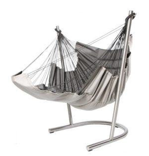 Hamac chaise Soay avec l'extension repose-pied dépliée