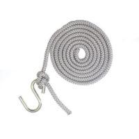 Corde & crochet pour hamac chaise gris