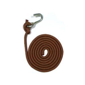 Corde & crochet pour hamac chaise marron