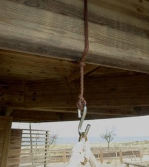 Corde & crochet pour hamac chaise