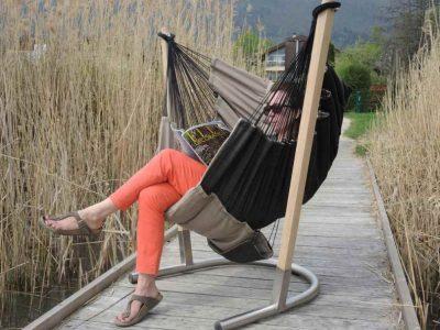 Hamac chaise Soay à l'extérieur
